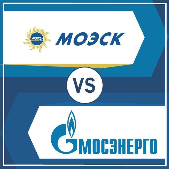 Логотипы МОЭСК и Мосэнергосбыт