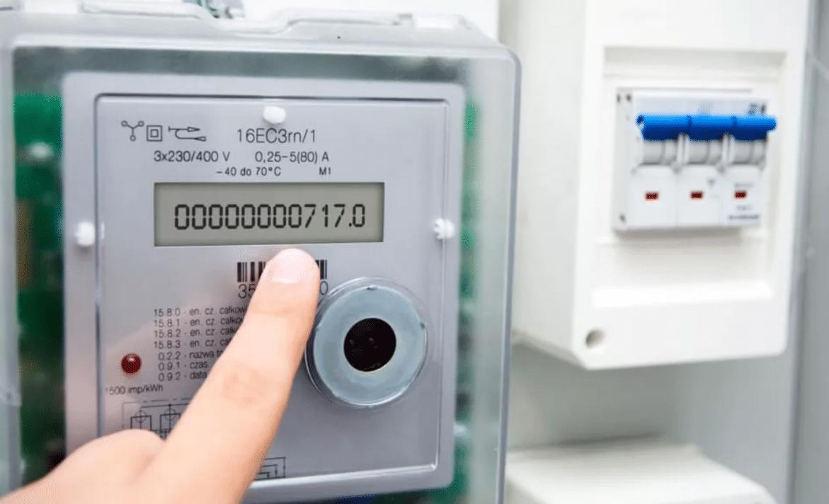 Показания счетчика электроэнергии