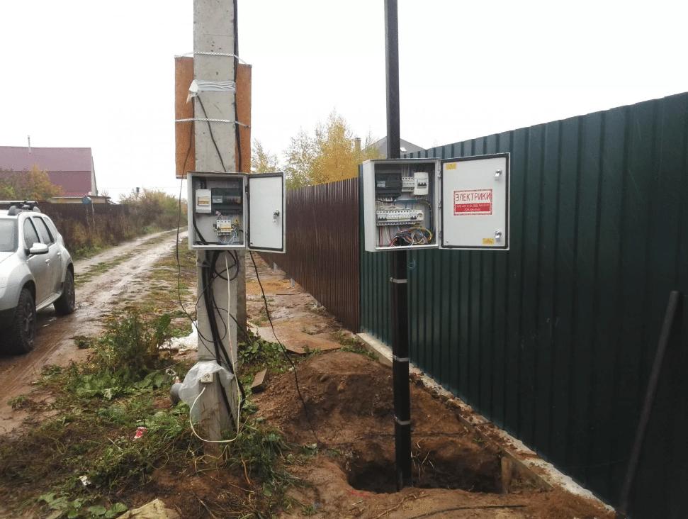 Подключение электроэнергии по земле